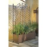 H. Potter Meditteranean Metal Planter and Trellis