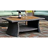 Teak and Wicker Comft Table