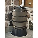 Woodgrain Straight Back Rain Barrel