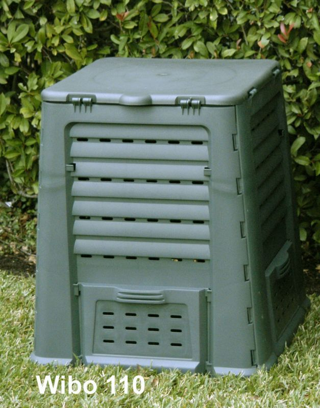 Wibo Composter green/grey 160 gal