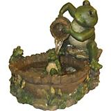 Mother Frog Bathing Family Fountain w/Pump