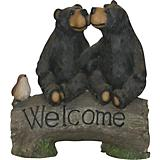 Two Bears w/ Welcome Sign