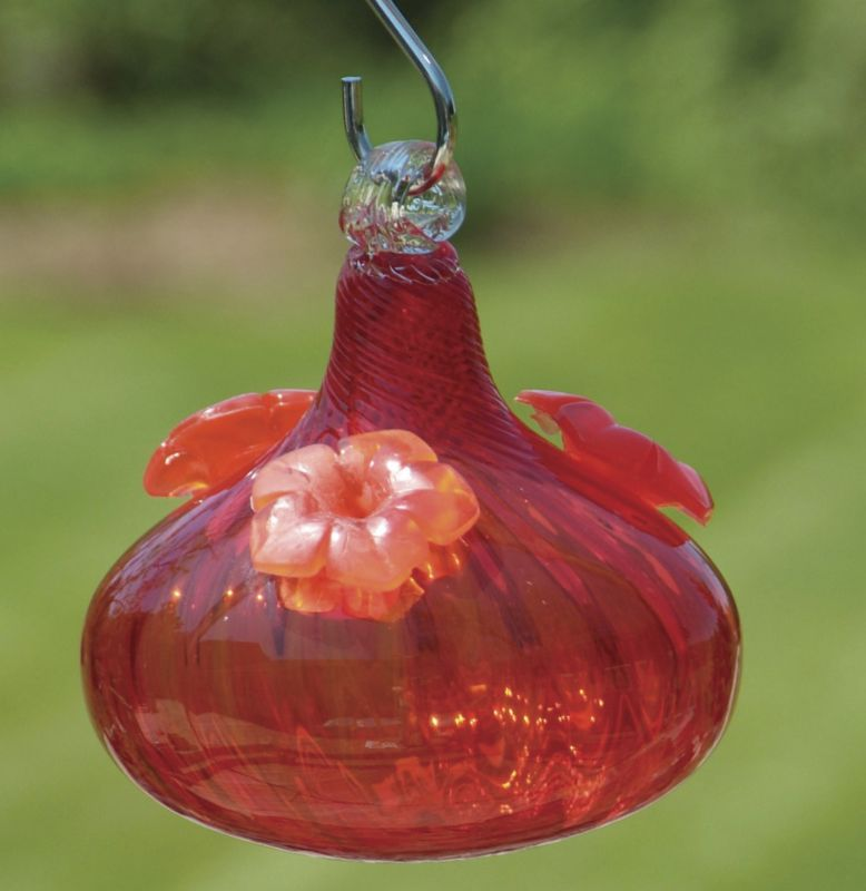 Twirl and Swirl Hummgbird Feeder Red