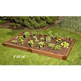Raised Vegetable Garden-Wood Grain