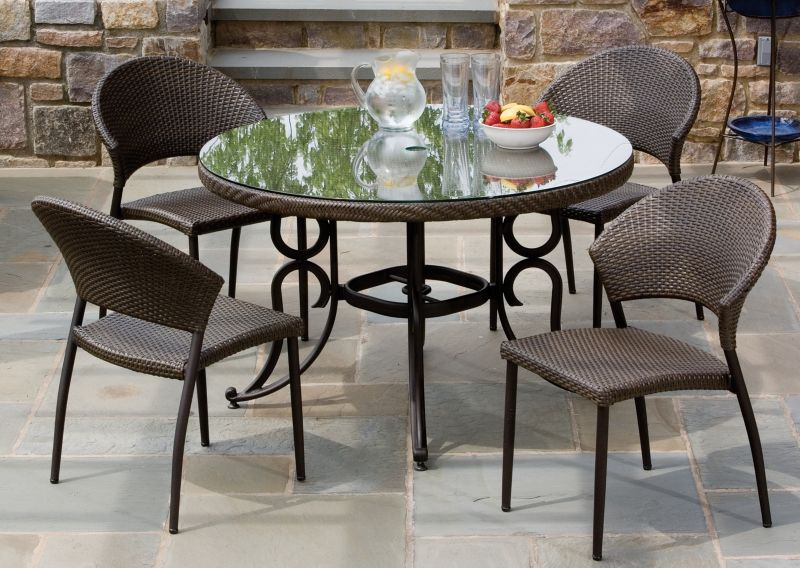 Vento Wicker 5 Piece Dining Set