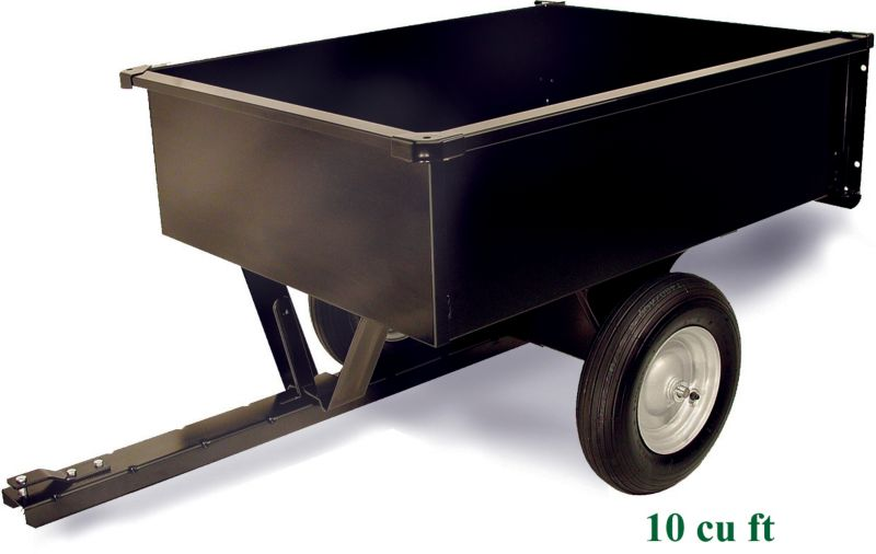 Steel Trailing Dump Cart 10 cu ft
