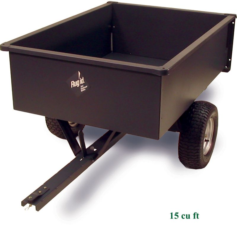 Steel Trailing Dump Cart 15 cu ft
