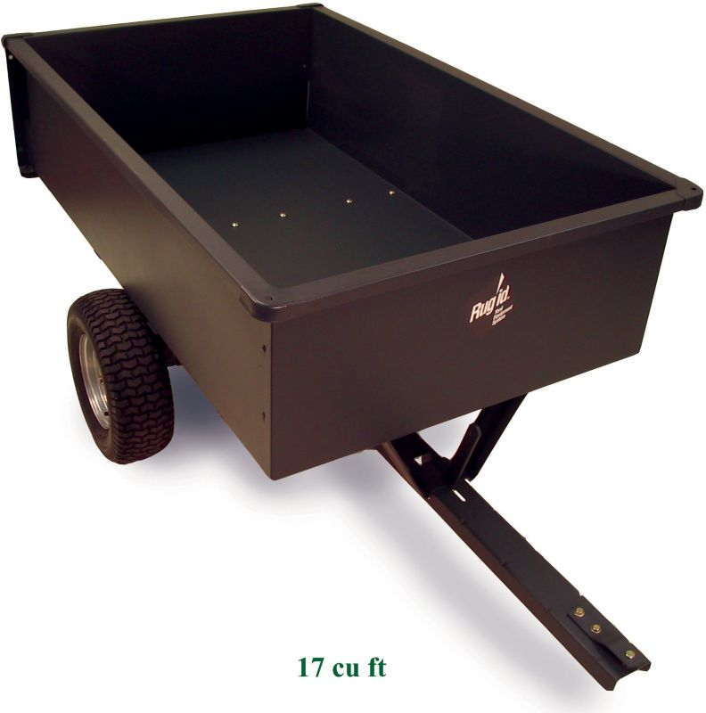 Steel Trailing Dump Cart 17 cu ft