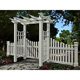 New England Arbors Fairfield Deluxe Pergola Arbor