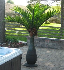 LED Lighted Bottle Palm Tree 6ft Tall