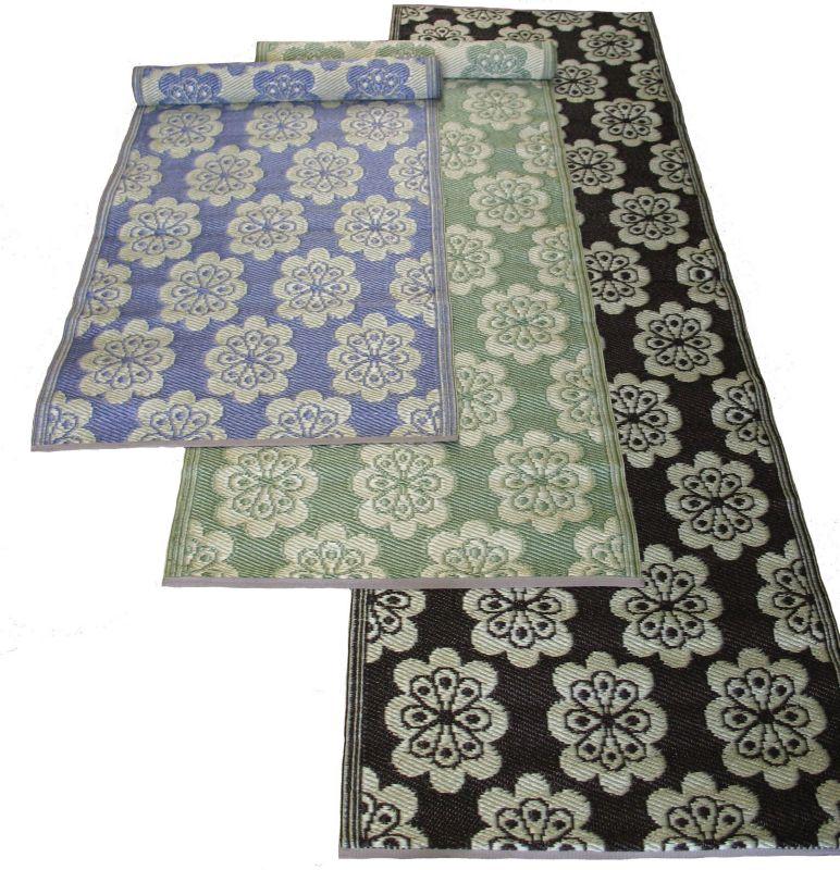 Flowers Runner Mat 2.5ft x 8ft Lavender- Off White