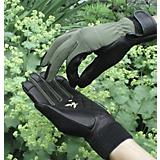 Green Stretch Glove with Leather Palms