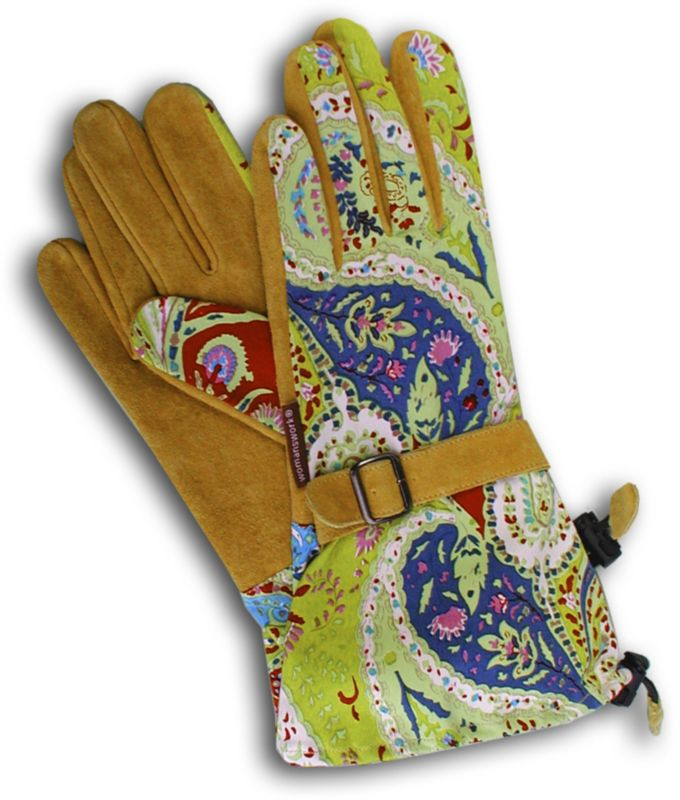 Gauntlet Glove-Micro Suede Medium Paisley