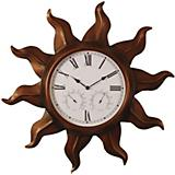 Copper Sun Indoor-Outdoor Wall Clock