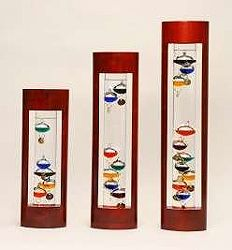Cherry Frame Galileo Thermometer 15in
