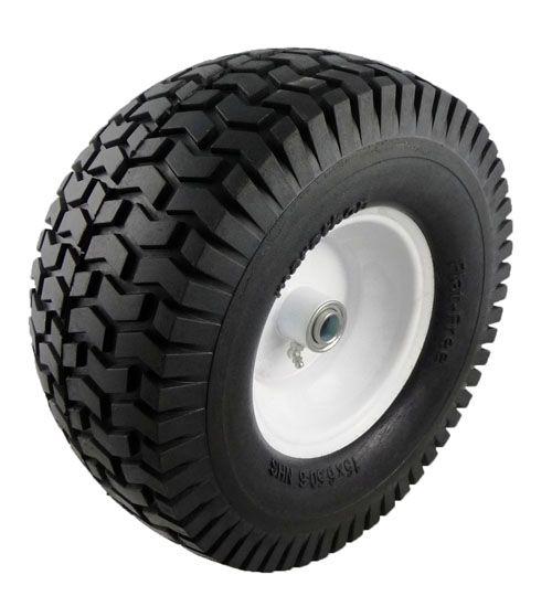 15 x 6.50 - 6in Flat Free Lawnmower Tire