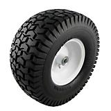 15 x 6.50 - 6in Flat Free Lawnmower Tire