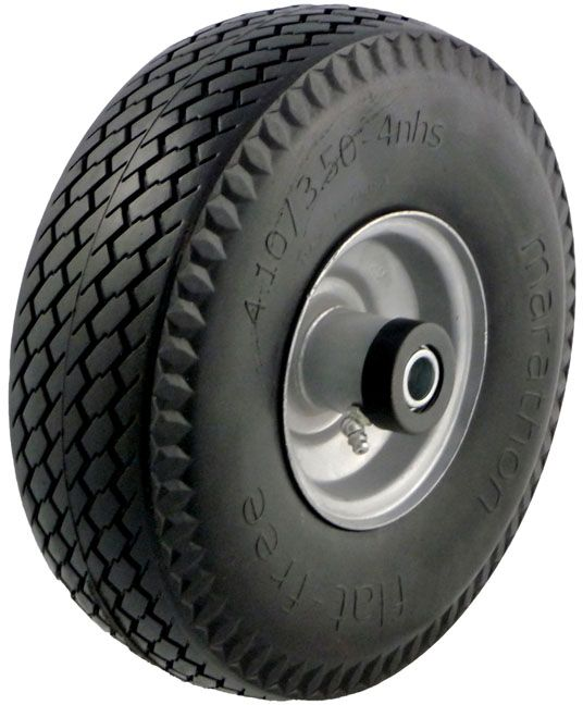 10in Hand Truck Tire Offset Hub .625 Bearing