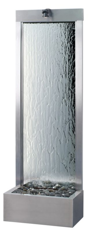 Gardenfall Brushed Stainless 32x90 Clear Glass