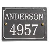 Slate Rectangle Address Plaque