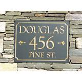 Slate Marquis Rectangle Address Plaque