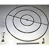 30In InGround Match Lit FirePit Kit w/Prop.Convert
