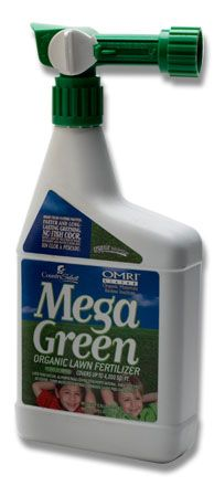 Mega Green Organic Lawn Food Quart RTS