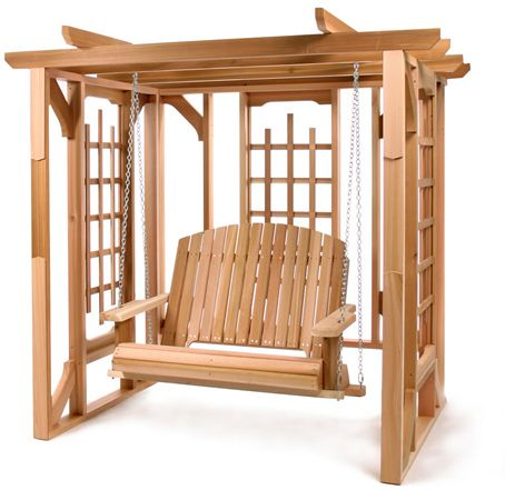 All Things Cedar Pergola Swing Set