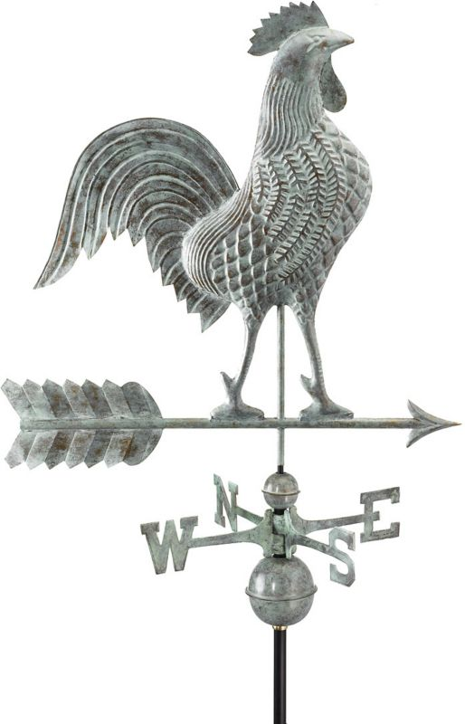 27in Rooster Weathervane Copper