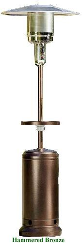 Patio Heater with Table Hammered Bronze
