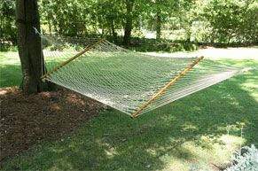 Deluxe DuraCord Rope Hammock Oatmeal