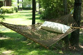 Large DuraCord Rope Hammock Oatmeal