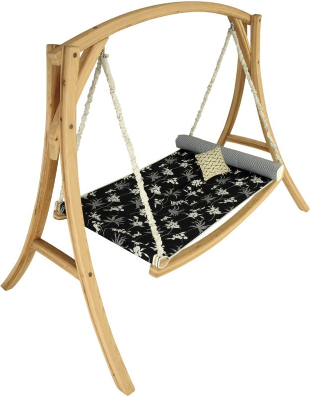 Hanging Hammock Bed-Cypress Stand-Frame-Fabric Bed