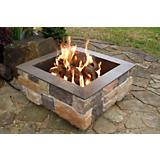 Smooth Ledge Outdoor Fireplace
