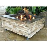 Rough Sawed Outdoor Fireplace