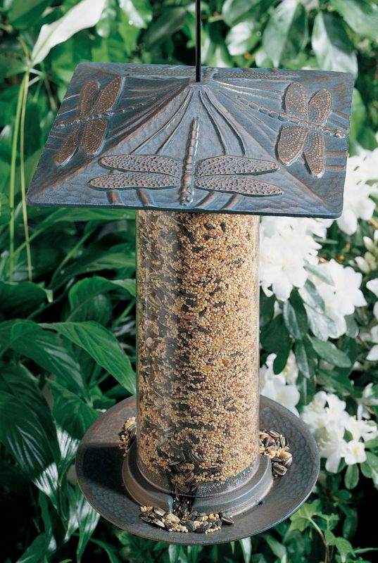 Dragonfly Tube Feeder 6in French Bronze (WHITEHALL PRODUCTS 30409 719455304105 Wild Bird Supplies Bird Feeders) photo