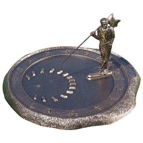 Golfer Sundial Bronze