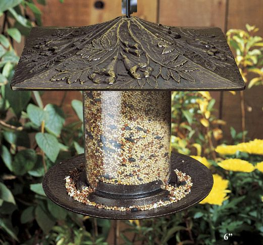 Trumpet Vine Tube Feeder 12in French Bronze (WHITEHALL PRODUCTS 30435 719455304402 Wild Bird Supplies Bird Feeders) photo