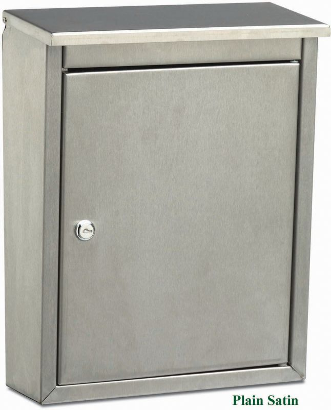 Metropolis Stainless Steel Mailbox Plain Satin