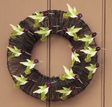 Wire Hummingbird Wreath