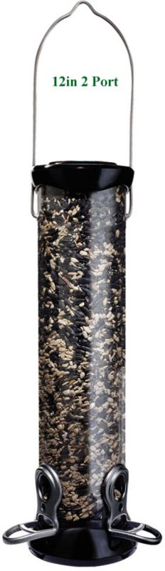 Onyx Nyjer Sunflower Tube Bird Feeder 12in 2 Port (DYCC12S 021964252410 Wild Bird Supplies Bird Feeders) photo