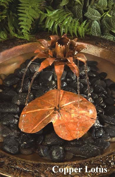 Dripper-Fountain Copper Lotus