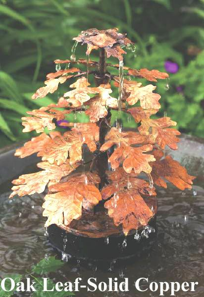 Dripper Oak Leaf-Solid Copper
