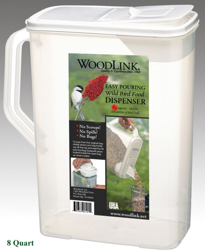 bird seed container 8 qt on lovemypets.com