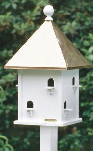 Lazy Hill Square Bird House Copper Roof