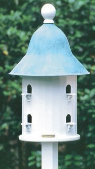 Lazy Hill Bell Bird House Copper Roof
