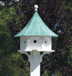 Lazy Hill Carousel Bird House Copper Roof