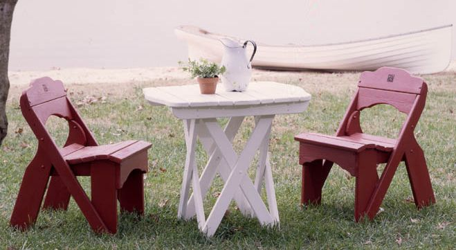Picnic Chair Rustic Red