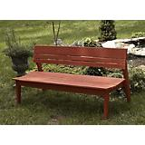 Three Seat Bench with Back