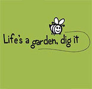 lifes a garden dig it shirt medium brown - Lifes A Garden Dig It